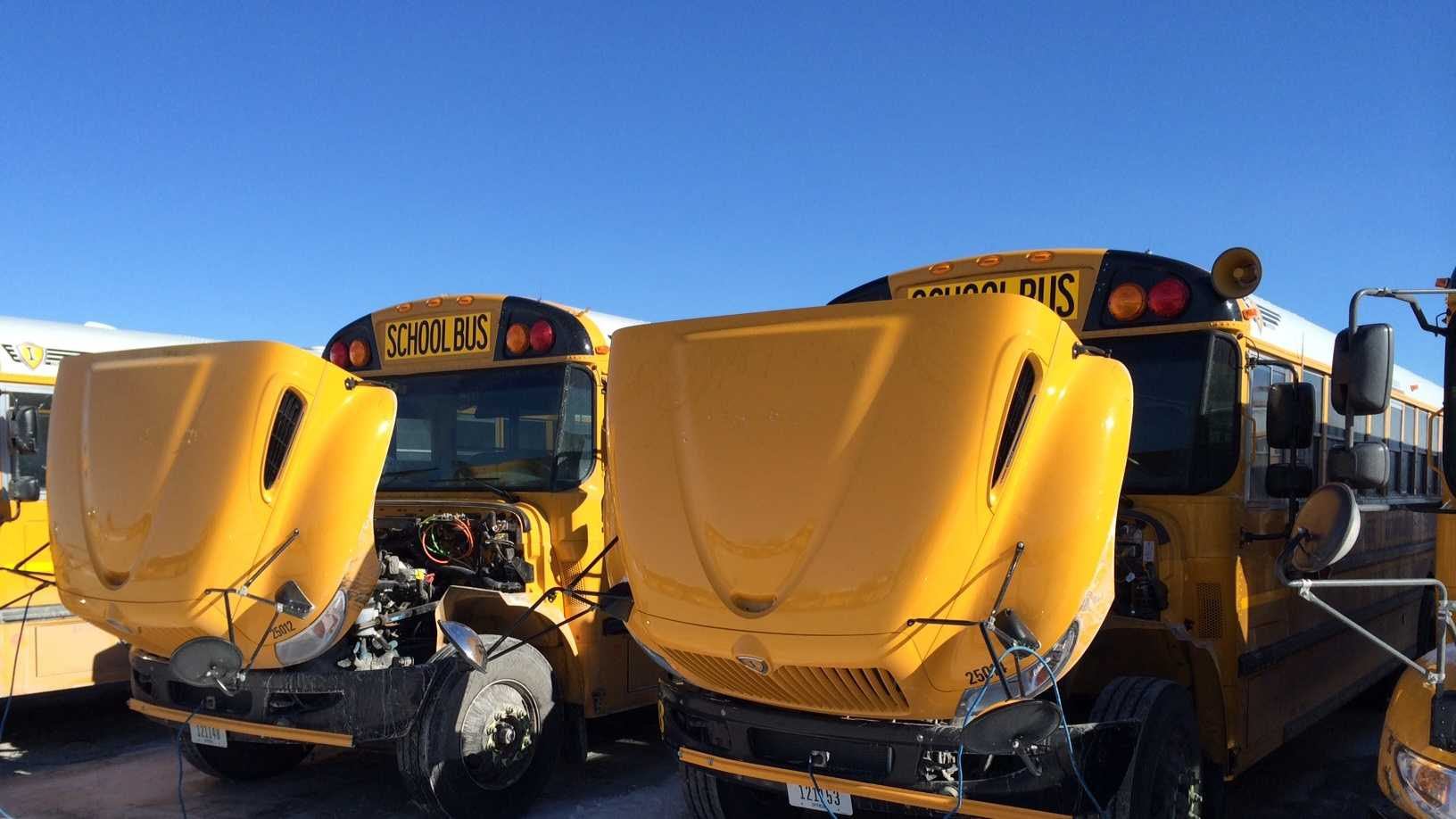 Too cold for school bus