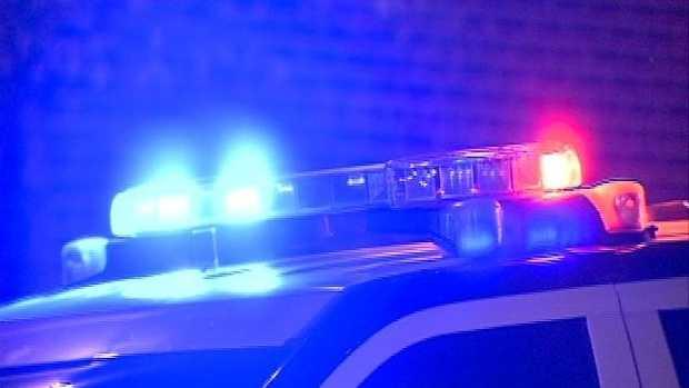 Night police lights