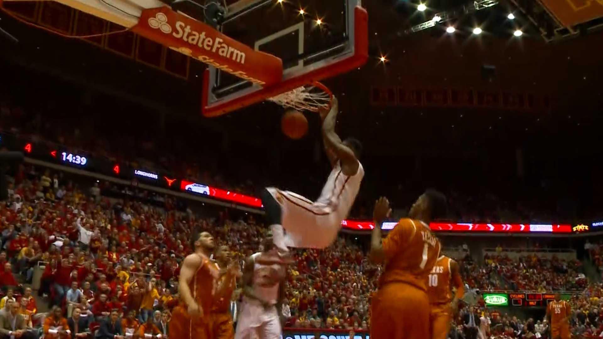Melvin Ejim Iowa State Cyclones basketball dunk