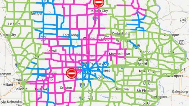 roads map 3pm