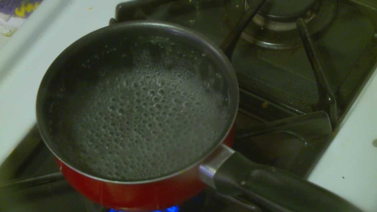 Boil order water stove