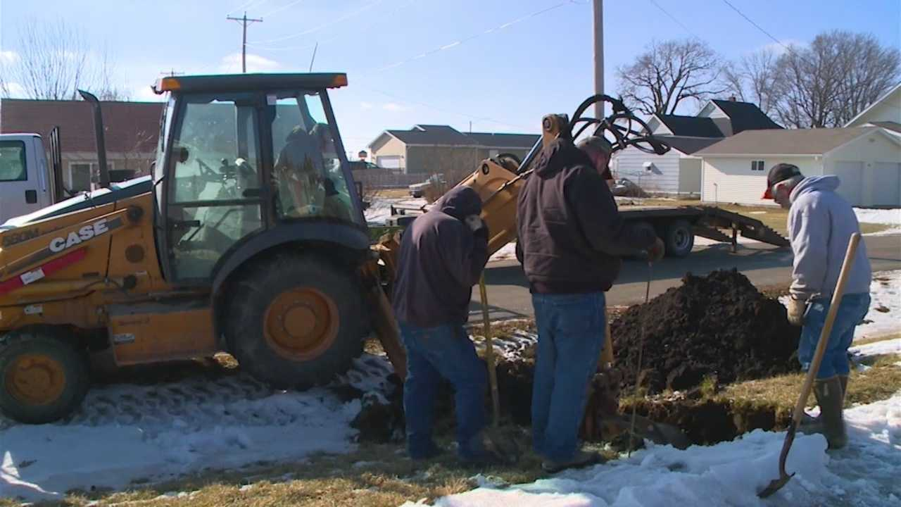 No water for weeks as pipes freeze solid