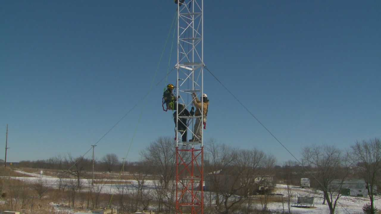 Crews train to make high tower rescues