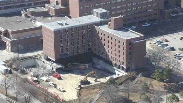 implosion hospital building 1