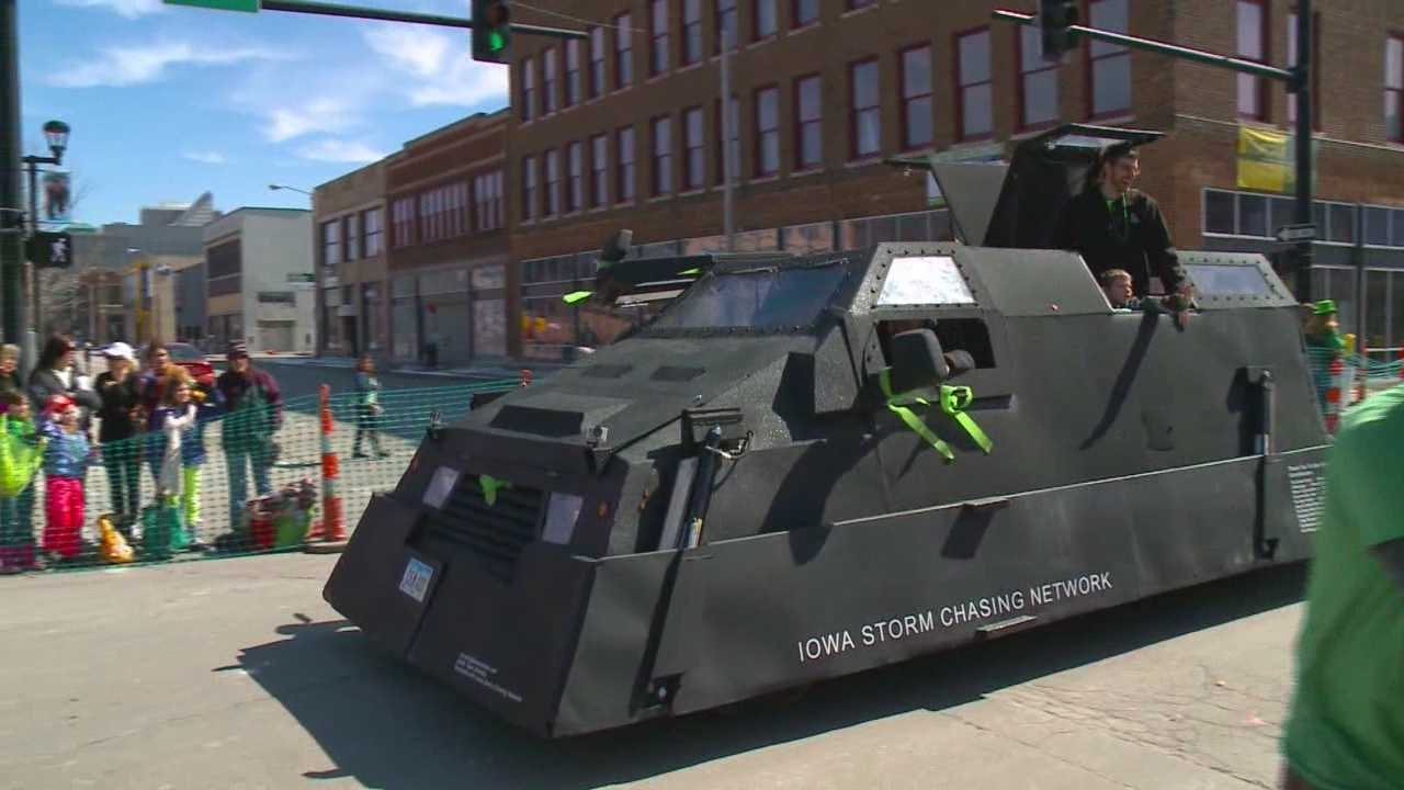 The Iowa Storm Chase Network has a new Batmobile style storm chase vehicle.