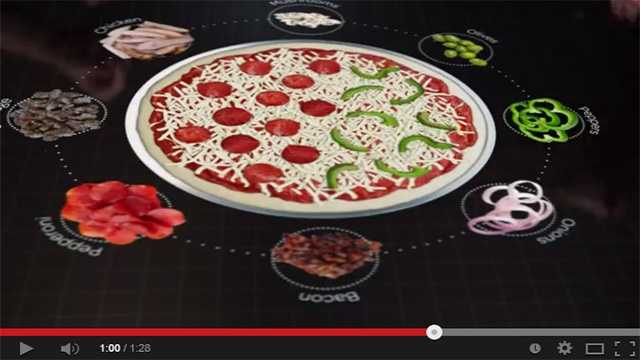 pizza interactive table