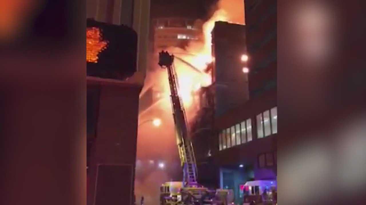 Fire destroys landmark Younkers Building