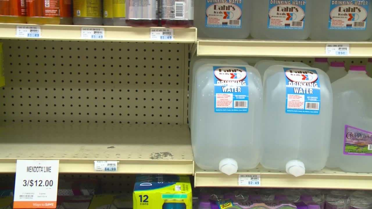 Stores scramble to stock shelves with bottled water