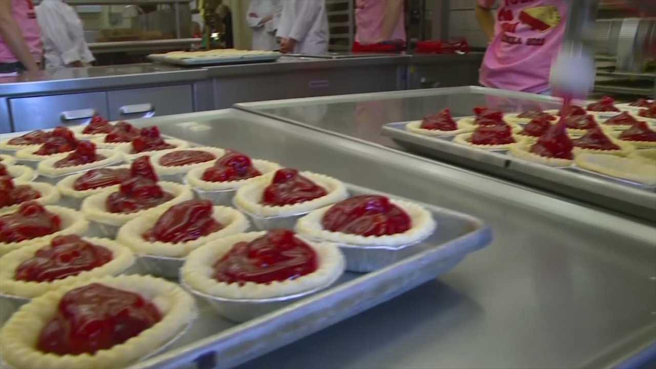 Cherry pies made every year during VEISHEA at ISU.