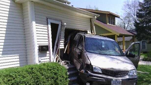 SUV slices through home in Knoxville