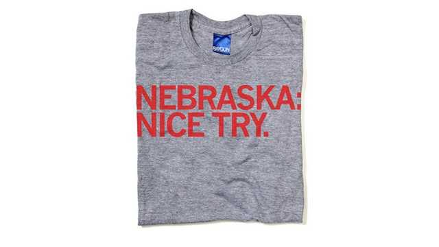 Raygun t-shirt Nebraska Nice Try