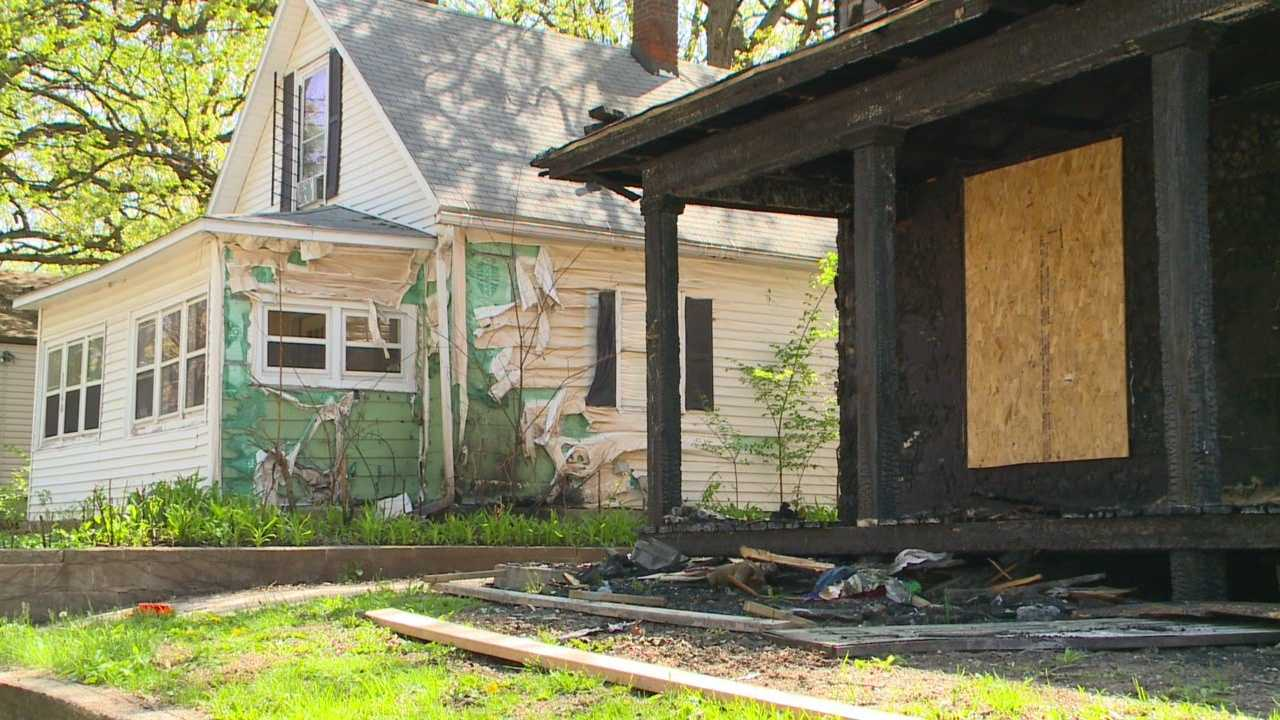 Fire victim fights to repair damage one month after blaze