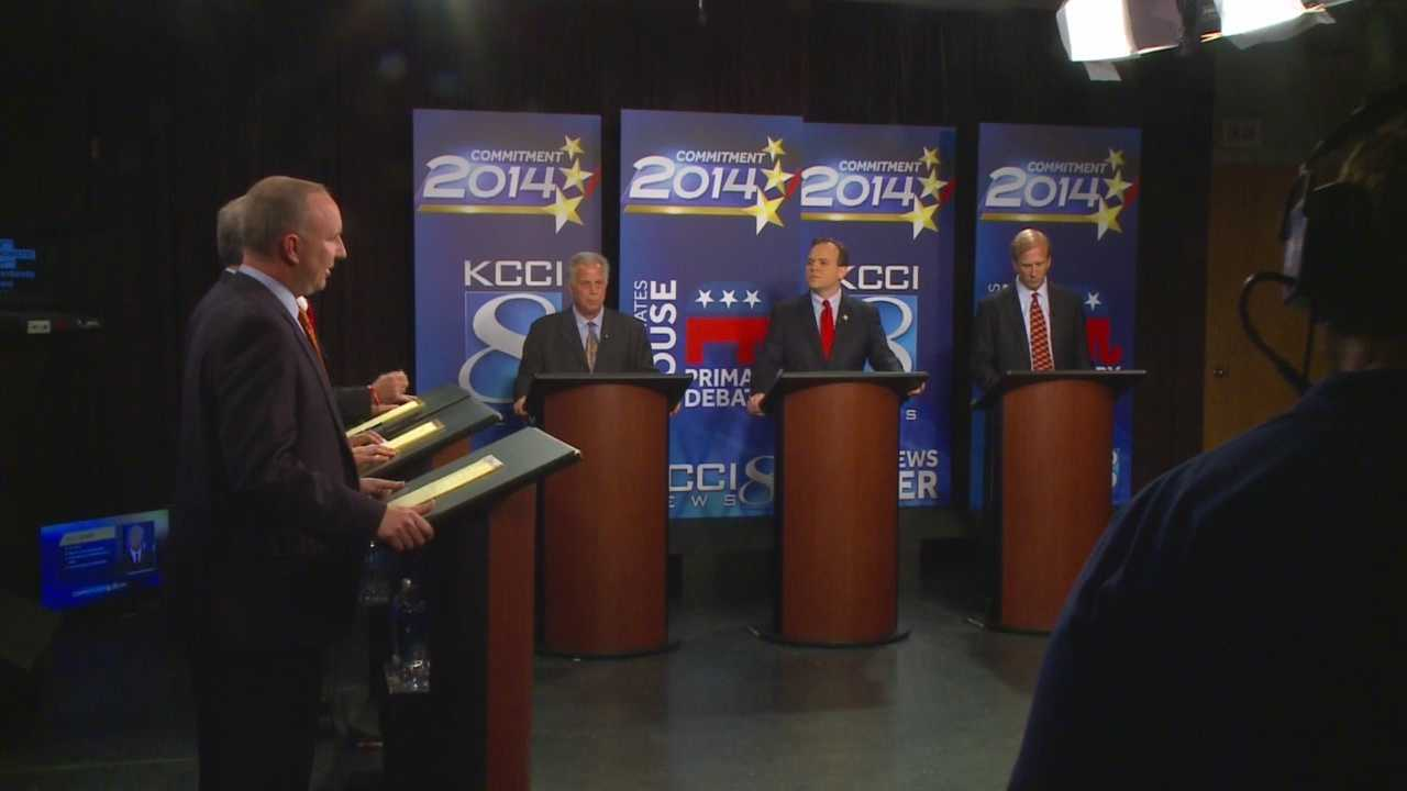 Six candidates vying for the Republican nomination for US House squared off in a KCCI debate Tuesday night.