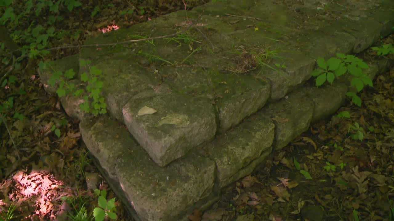 A Des Moines man hunting for mushrooms in the woods said he thinks he stumbled on a piece of Iowa history.