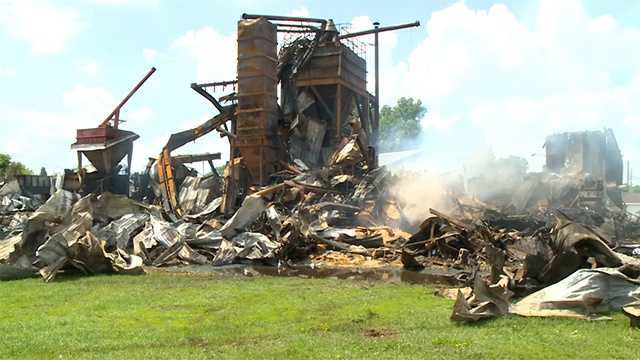 Whiton Feed fire Perry Iowa
