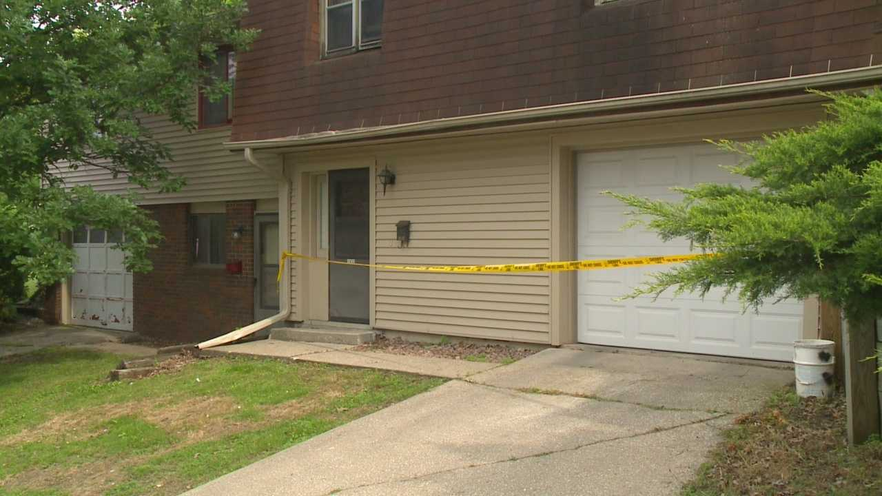 Authorities have charged a man with first-degree murder in the death of his father and are still investigating.