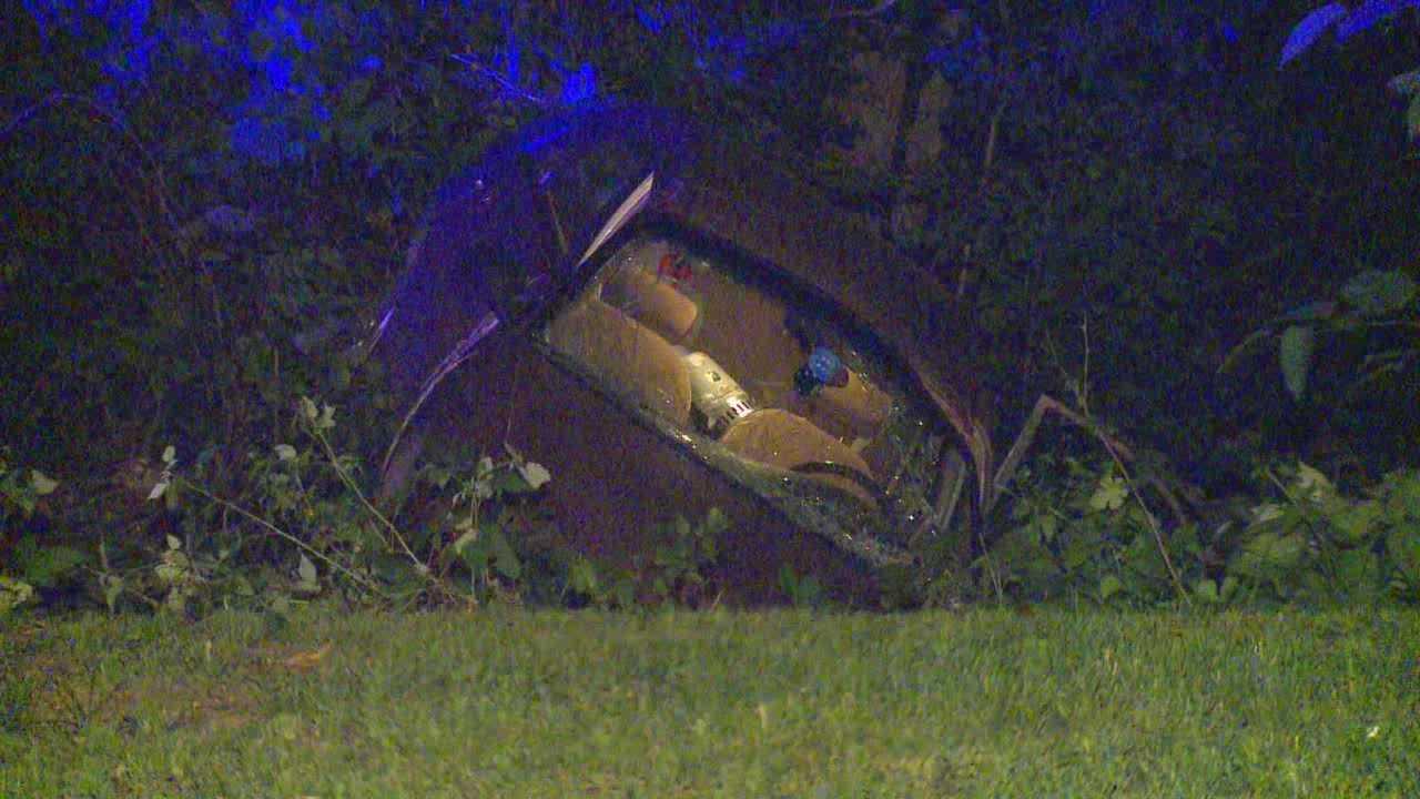 Woman seriously injured in single car crash