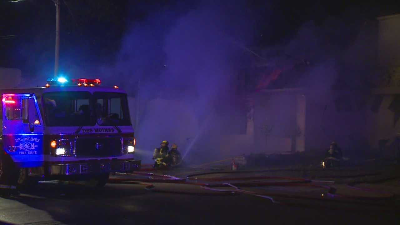 Overnight fire spreads to two buildings