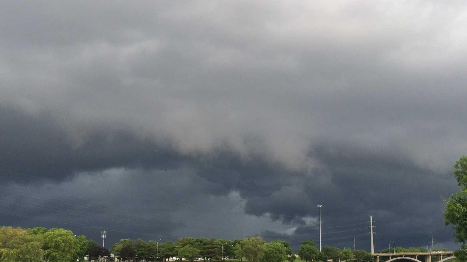 Storm heavy rain