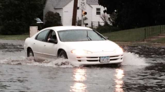 Street flooding reported near Merle Hay and Hickman roads.