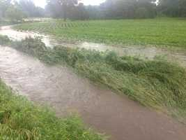Rural flash flooding reported near Zearing