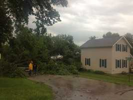 Storm damage in Zearing, Iowa