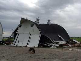 Barn near Story City destroyed