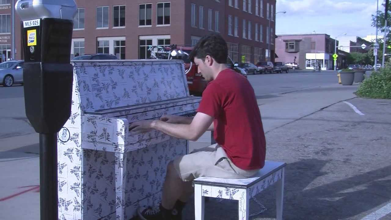 Tuesday kicked off the first day that two outdoor pianos are available to the public downtown Des Moines.