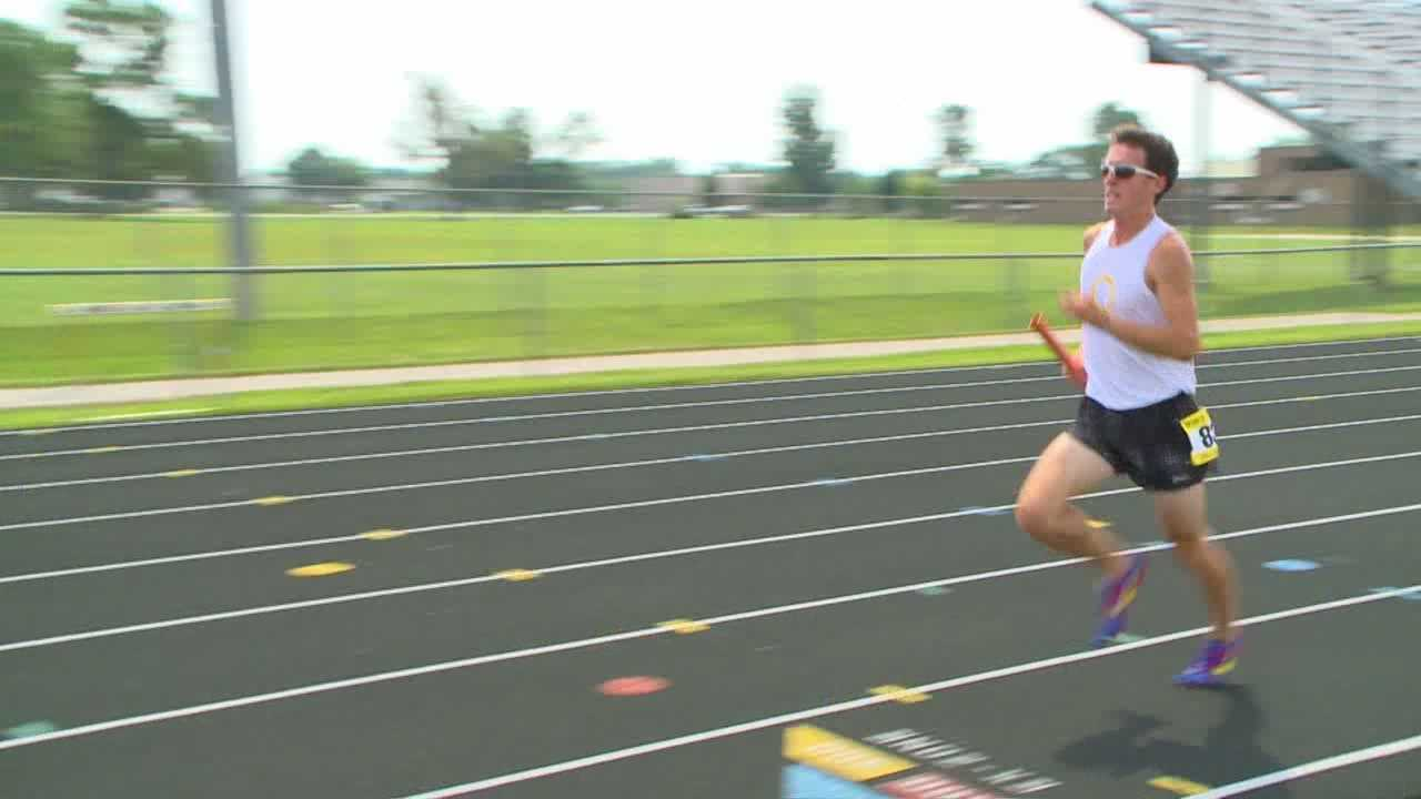 """Some of the state's top distance runners were a part of history Friday as 100 Iowans raced their way into the """"Guinness World Records."""""""