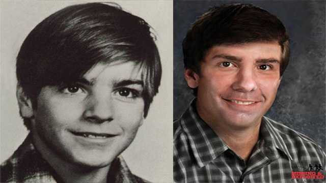 Photo of Eugene Martin from 1984 and age progressed to what he might look like today.