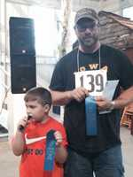 Father son duck calling contest