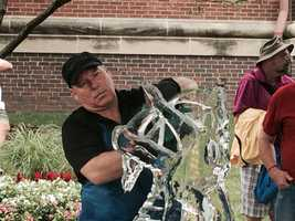 Ice sculpture contest
