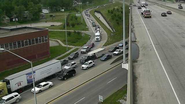 traffic i235 fair 1 11am