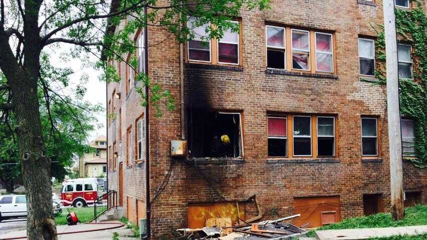 Apartment fire in Des Moines
