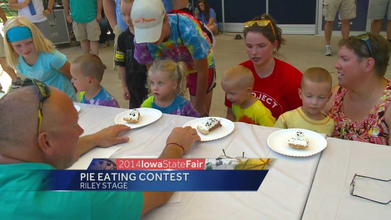 Quadruplets compete in pie eating contest
