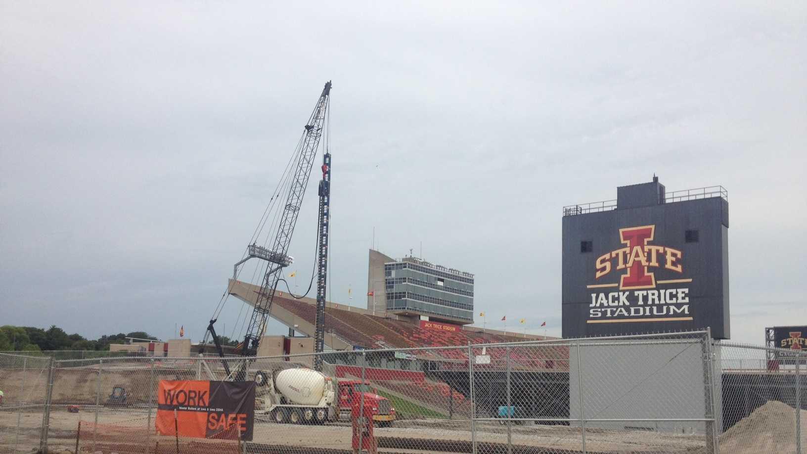 Construction at Jack Trice Stadium