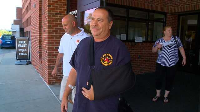firefighter released hospital 1