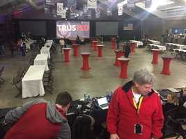 Trump campaign event before it started