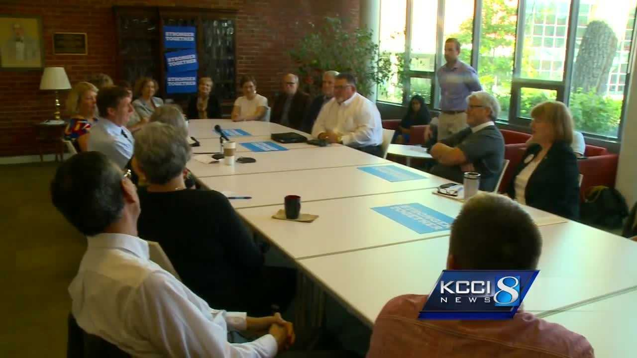 Former Congressman Patrick Kennedy held a roundtable discussion at Drake University Wednesday to promote Hillary Clinton's plan to address the mental health crisis.