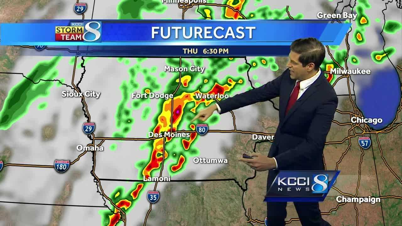 Videocast: Fast-moving system brings thunderstorms