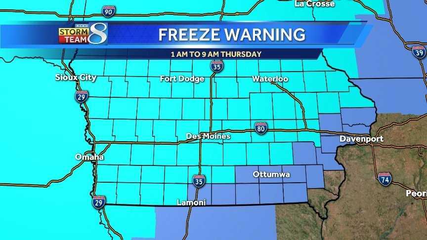 Freeze Warning graph