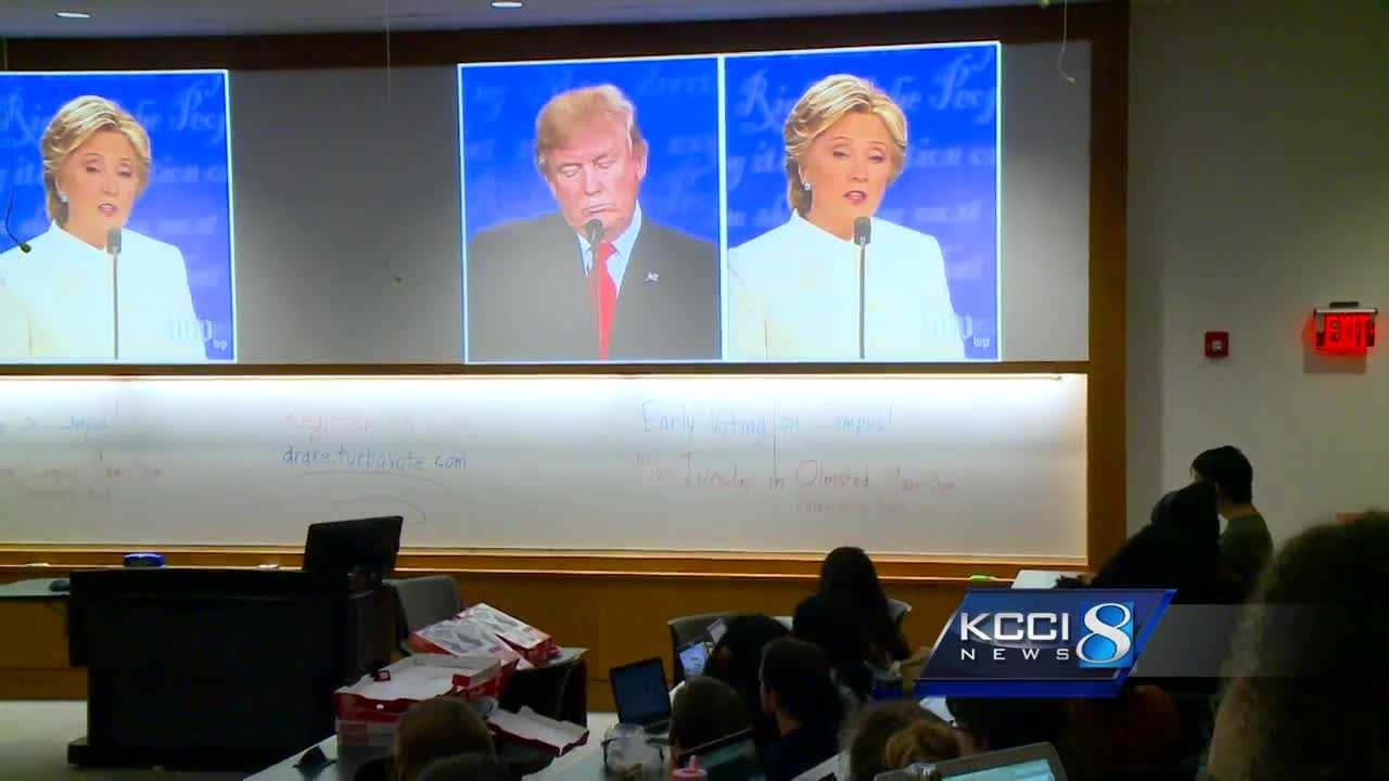Drake University hosted a bi-partisan watch party tonight. KCCI asked students if the final debate made a difference.