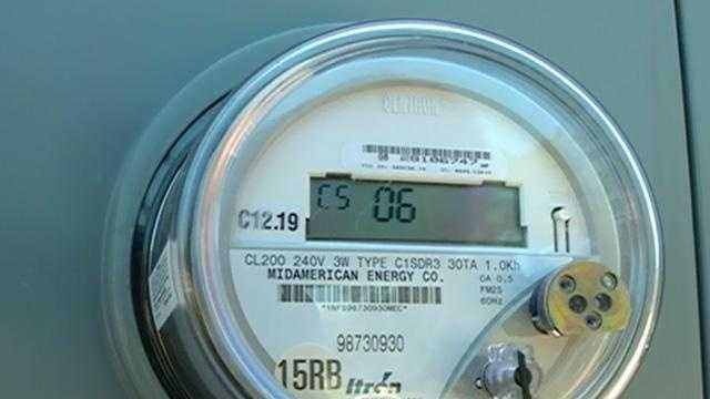 Electric meter utility iowa cu - 28613664