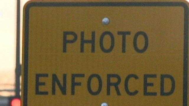 Traffic Camera Sign Photo Enforced - 25561925