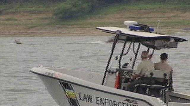 Saylorville Lake police law enforement boat - 23034055