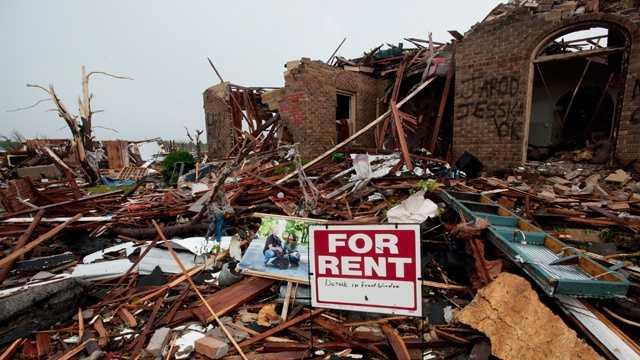 Joplin house damaged by tornado