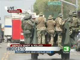 1:30 p.m. -- Merced SWAT Team arrives on scene.1:45p.m. -- Stanislaus County Sheriff Sgt. Anthony Bejaran provides an update on the situation.