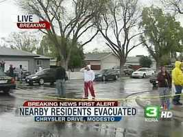 1 p.m. -- Residents in neighboring apartment complexes are given instruction to evacuate their homes. A shelter was provided at Evangelical Church, on Prescott Road.