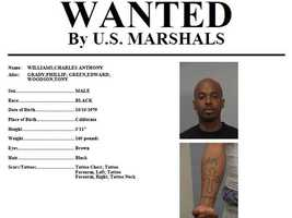 Charles Williams: Williams is wanted on robbery charges and is considered armed and dangerous, according to U.S. Marshals. Anyone with knowledge of Williams' whereabouts is asked to call 916-930-2030.