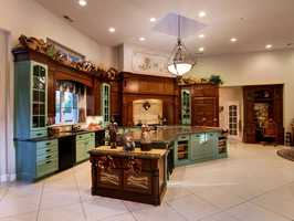 The home was updated with new cabinetry.